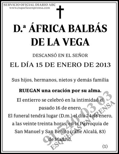 África Balbás de la Vega